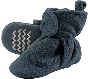 Hudson Baby Coronet Blue Non-Skid Fleece Booties - Boys