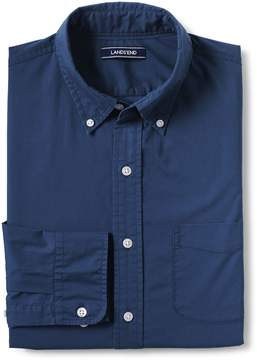 Lands' End Lands'end Men's Tall Traditional Fit Long Sleeve Solid Lightweight Cotton Shirt