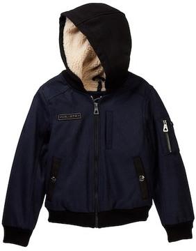 Urban Republic Fleece Lined Varsity Hooded Jacket (Big Boys)
