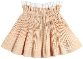 N°21 Cotton Poplin Star Laser Cut Skirt