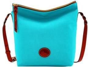 Dooney & Bourke Nylon Hobo Crossbody Shoulder Bag - AQUA - STYLE