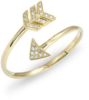 Anne Sisteron Yellow Gold Diamond Mini Arrow Wrap Ring