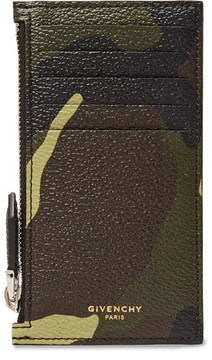 Givenchy Camouflage-Print Full-Grain Leather Zipped Cardholder