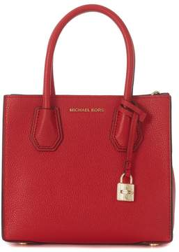 Michael Kors Handbag Model Mercer Messenger In Red Tumbled Leather - ROSSO - STYLE