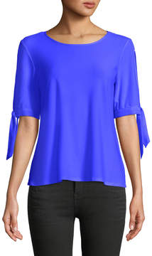 Cynthia Steffe Cece By Tie-Sleeve Crewneck Tee