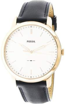 Fossil Men's The Minimalist FS5371 Gold Leather Japanese Quartz Fashion Watch
