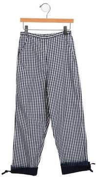 Lili Gaufrette Girls' Gingham Straight-Leg Pants w/ Tags