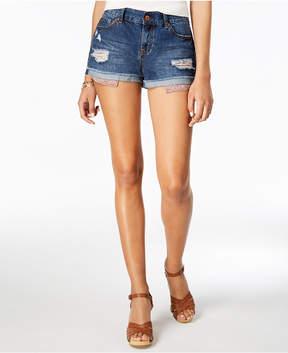American Rag Juniors' Ripped Cuffed Denim Shorts, Created for Macy's