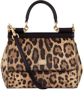 Dolce & Gabbana Small Sicily Leopard Top Handle Bag - MULTI - STYLE