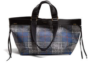 Isabel Marant Wardy Plaid Tote Bag