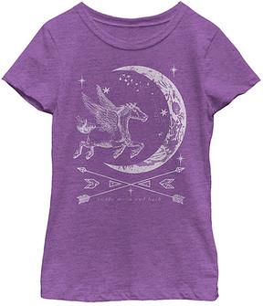 Fifth Sun Purple Berry Unicorn Moon Tee - Girls
