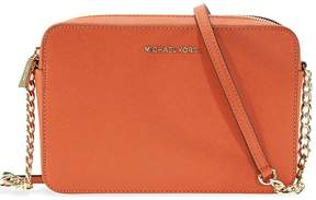 Michael Kors Jet Set Saffiano Leather Crossbody Bags - Orange