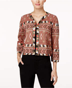 Cable & Gauge Cupio Printed Cardigan