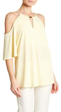 Ellen Tracy Cold Shoulder Blouse
