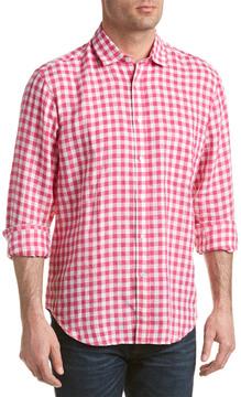 J.Mclaughlin Gramercy Linen Regular Fit Woven Shirt