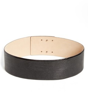 Max Mara Women's Reptile Embossed Leather Belt