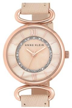 Anne Klein Women's Leather Strap Watch, 32Mm