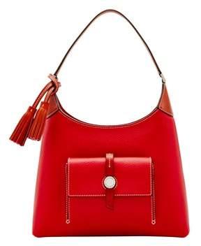 Dooney & Bourke Cambridge Small Hobo Shoulder Bag. - RED - STYLE