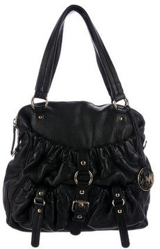 MICHAEL Michael Kors Grained Leather Satchel - BLACK - STYLE