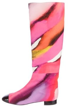 Chanel Tie-Dye Knee-High Boots