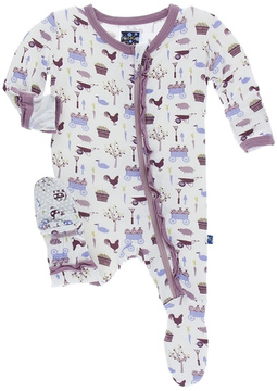 Kickee Pants Girl Farm Sleepwear