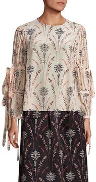 Creatures of the Wind Women's Tav Floral Printed Blouse