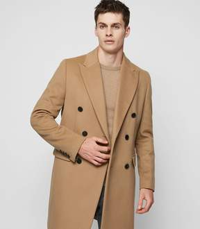 Reiss Francisco Cashmere Blend Double-Breasted Overcoat