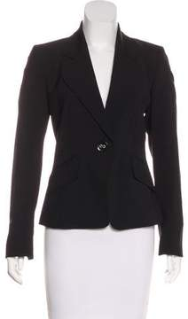 Ellen Tracy Wool Button-Up Blazer