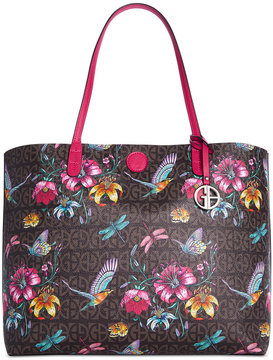 Giani Bernini Floral Signature Oversized Tote, Created for Macy's