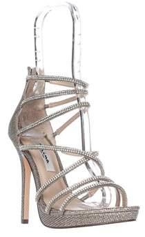 Nina Finessa Strappy Evening Sandals, Latte Dreamland.