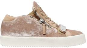 Giuseppe Zanotti Design 20mm Bangle Velvet Sneakers