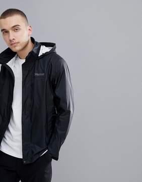 Marmot PreCip Jacket Waterproof With Attached Hood in Black