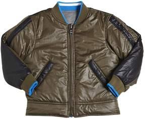 Diesel Reversible Nylon & Cotton Bomber Jacket