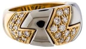 Bvlgari Two-Tone Diamond Ring