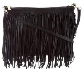 Barneys New York Barney's New York Leather Fringe-Accented Crossbody