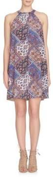 Cynthia Steffe Bandana Print Halter Neck Trapeze Dress