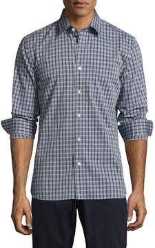 Jack Spade Men's Grant End On End Unbalanced Check Point Sportshirt