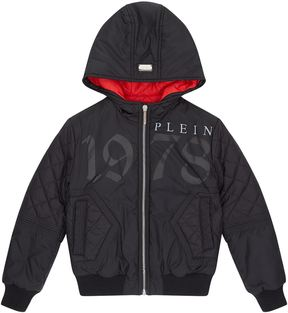 Philipp Plein Skull Back Puffer Jacket