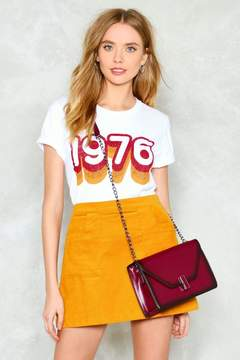 Nasty Gal nastygal WANT At a Cross For Words Vegan Leather Crossbody Bag