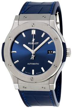 Hublot Classic Fusion Blue Sunray Dial Titanium Automatic Men's Watch