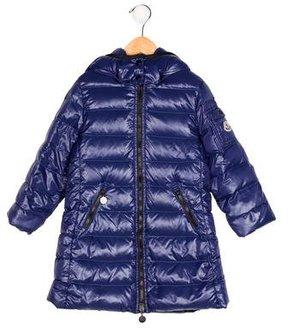 Moncler Girls' Hooded Puffer Coat