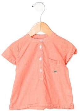 Marie Chantal Boys' Short Sleeve Gingham Shirt