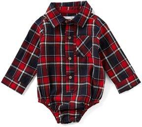 Mud Pie Baby Boys Newborn-12 Months Plaid Button-Down Bodysuit