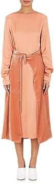 Cédric Charlier Women's Crepe & Velvet Wrap Dress