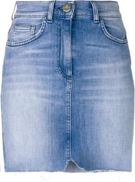 Elisabetta Franchi faded denim skirt