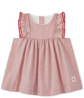 Petit Bateau Baby girls striped poplin dress
