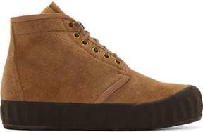 Visvim Brown Suede Ludlam Hi-Folk Boots