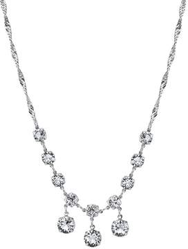 1928 Crystal Silver-Tone Dangle Necklace