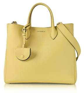 Coccinelle Women's Yellow Leather Handbag.