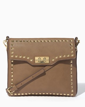 Charming charlie Studded Turnlock Crossbody Bag